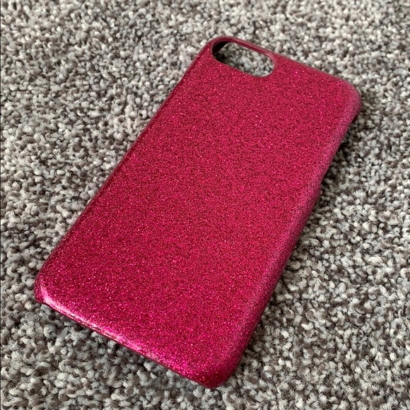 new style 55ca3 5785b Sparkly Hot Pink Iphone 6/7/8 Case